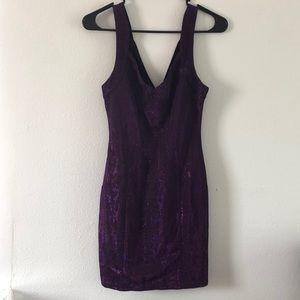 Purple Sequence Dress